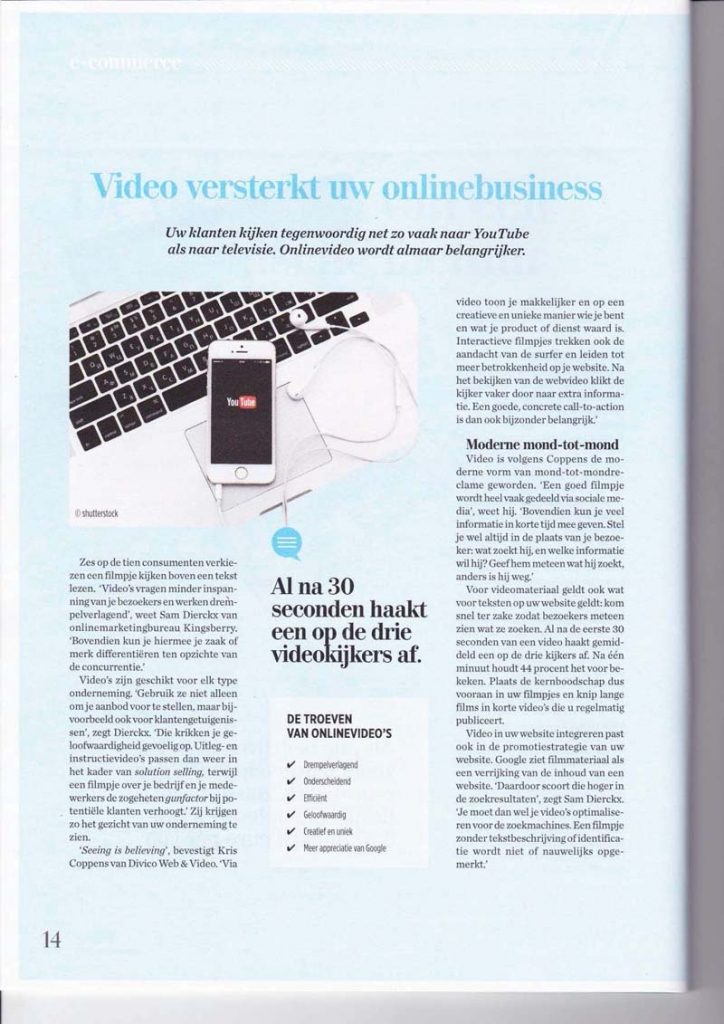 Divico Videoproducties in Pulse (De Tijd)